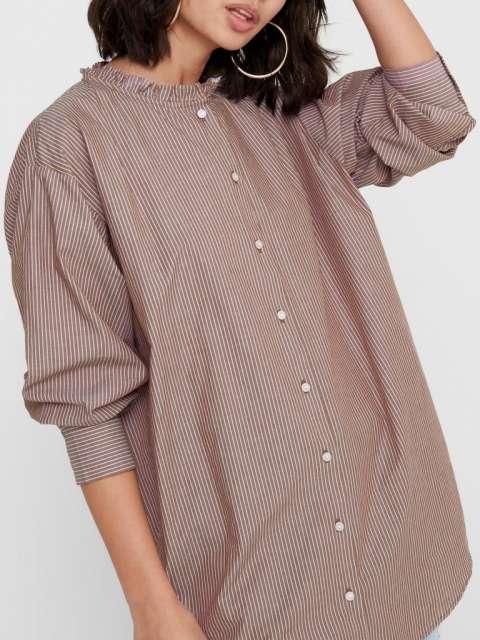 Camisa Jacqueline de Yong 15213326 JDYBUBBLE LIFE L/S FRILL LONG SHIRT WVN