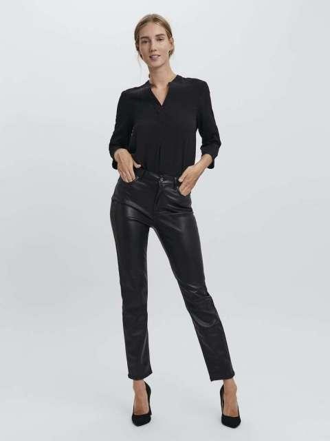Pantalón Efecto Piel Mujer Vero Moda 10250198 VMBRENDA HR STRAIGHT PL PANT COLOR