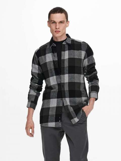 Camisa Cuadros Hombre Only & Sons 22020301 ONSGUDMUND LIFE LS 3T
