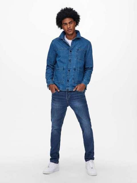 Jeans Slim Fit Hombre Only & Sons 22019617 ONSLOOM LIFE SLIM BLUE PK 9817