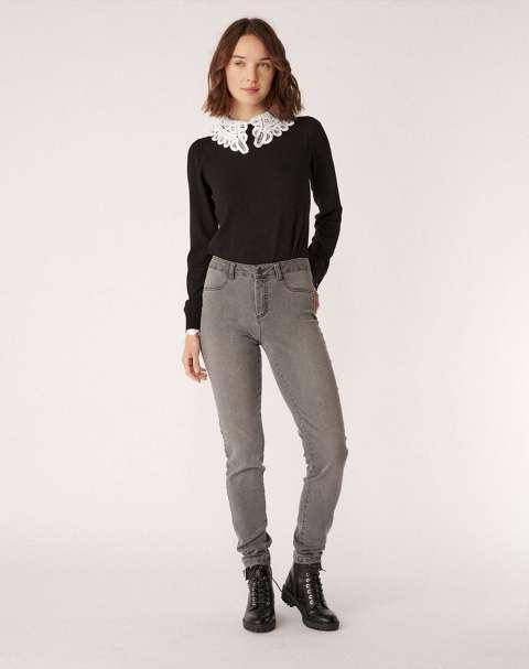Jeans Skinny Efecto Lavado Mujer Naf Naf RHNP40