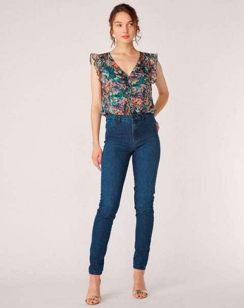Jeans Skinny Efecto Lavado Mujer Naf Naf RHNP41