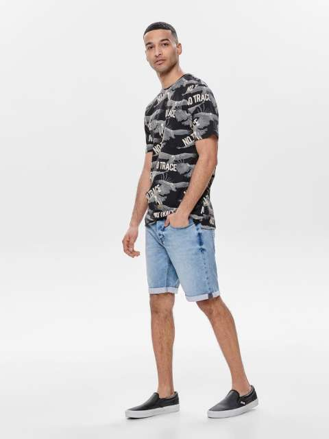 Bermuda vaquera Chico Only & Sons 22012019 ONSPLY SW LIFE BLUE SHORTS PK 2019 NOOS