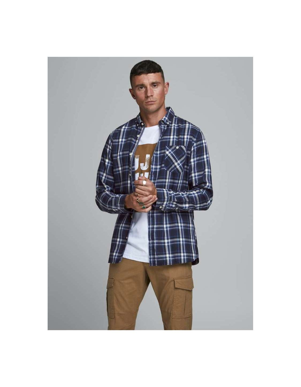 Camisa chico Jack&Jones 12174497 JCOTORONTO SHIRT LS ONE POCKET