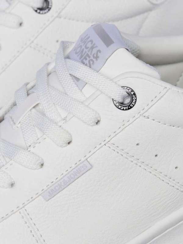 Zapatillas blancas chico 12169286 Jack & Jones JFWBANNA PU MONO BRIGHT WHITE