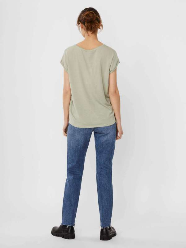 Camiseta básica Chica Vero Moda 10187159 VMAVA PLAIN SS TOP GA NOOS