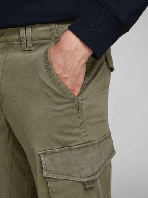 Pantalones Cargo Chico Jack & Jones 12141844  JJIPAUL JJFLAKE AKM 542 OLIVE NIGHT NOOS