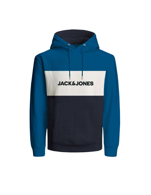 Sudadera con capucha Chico Jack & Jones 12172344  JJELOGO BLOCKING SWEAT HOOD STS