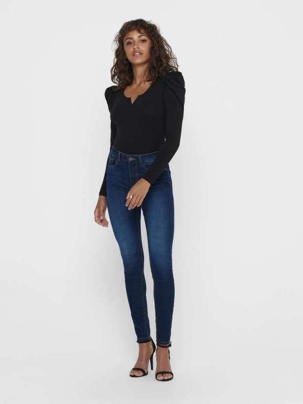 Jeans Tiro Alto Chica Jacqueline de Yong 15208243 JDYNEWNIKKI LIFE HIGH SKN MD BL DNM
