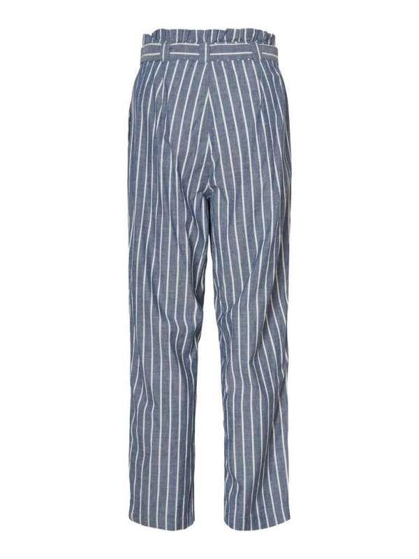 Pantalón Paperbag Rayas Chica Vero Moda 10211708 VMEMILY HR TIE WAIST CHAMBRAY AN PANT GA