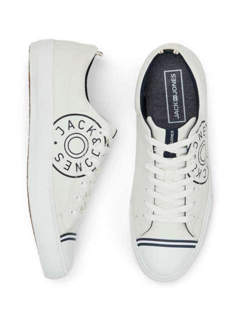 Zapatillas Blancas Logo Chico Jack & Jones 12150474 JFWHAYLE CANVAS PRINT WHITE