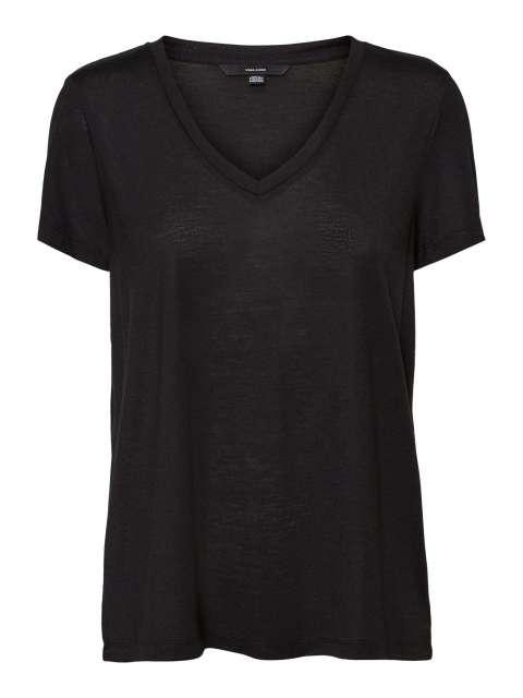 Camiseta Curve mujer 10247671 VMSPICY V-NECK SS TOP VO CURVE