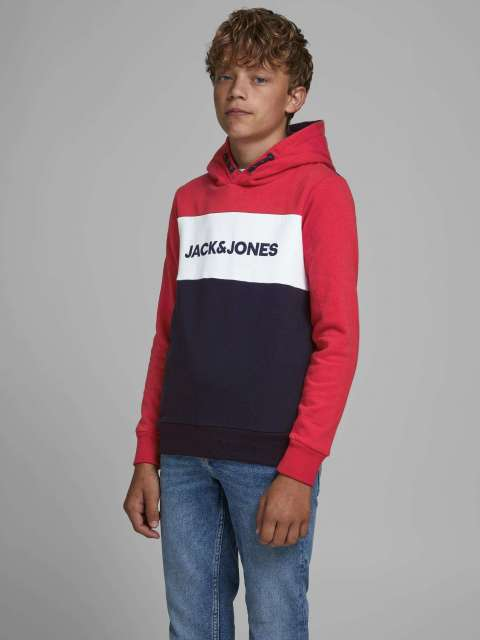 Sudadera Capucha Niño Jack & Jones Junior 12173901 JJELOGO BLOCKING SWEAT HOOD NOOS JR