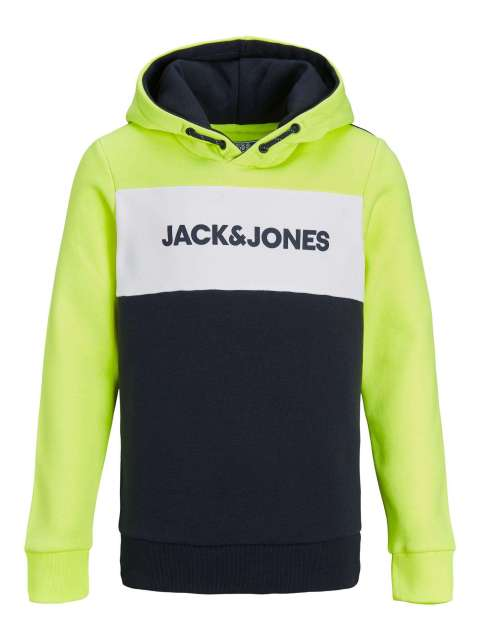 Sudadera Capucha Niño Jack & Jones 12191004 JJENEON LOGO BLOCKING SWEAT HOOD LTN JR