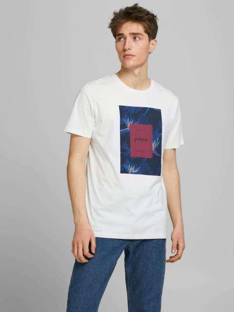 Camiseta Estampada Hombre Jack & Jones 12186330 JORFLORALL PRINT TEE SS CREW NECK