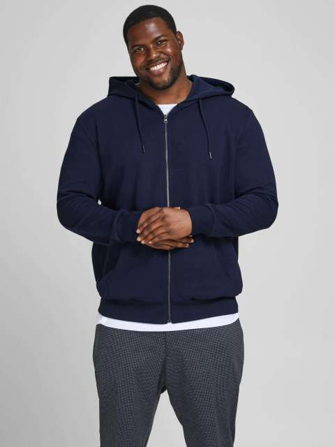 Sudadera Cremallera Jack & Jones Plus 12182493  JJEBASIC SWEAT ZIP HOOD NOOS PS