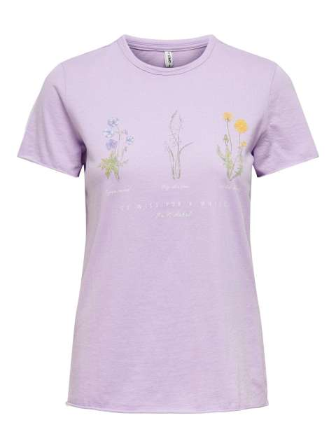 Camiseta Flores Chica Only 15225865 ONLLUCY LIFE REG S/S WILDFLOWER TOP JRS