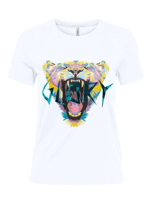 Camiseta Glory Chica Only 15221460 ONLFAYE LIFE REG S/S TIGER BOX TOP JRS