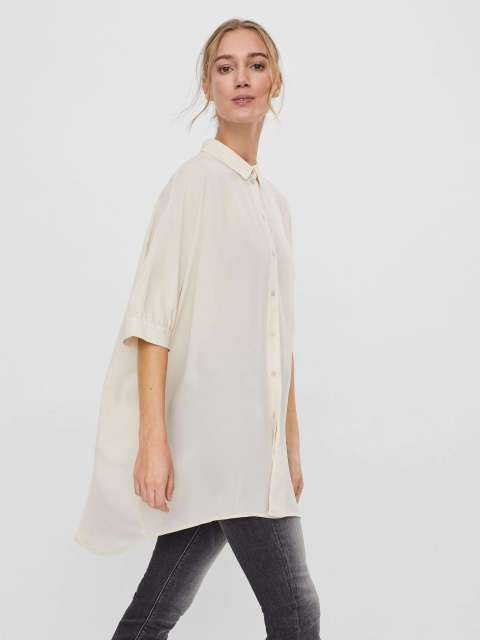 Camisa Oversize Mujer Vero Moda 10245201 VMPOEL SS OVERSIZE SHIRT GA VO