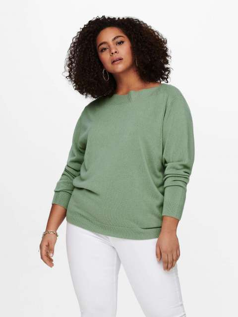 Jersey Punto Curvy Mujer Only Carmakoma 15220733 CARAMA L/S BOATNECK PULLOVER KNT