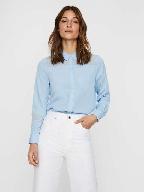 Camisa chica Vero Moda10227565 VMINDIE LS SHIRT WVN