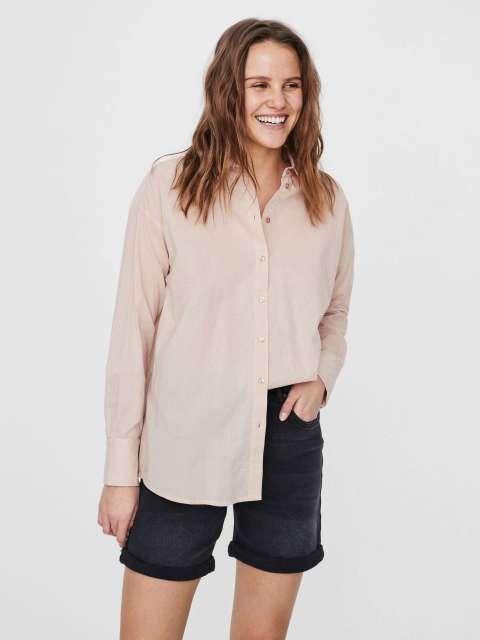 Camisa Larga Mujer Vero Moda 10218767 VMINDIA LOOSE LS SHIRT VMA