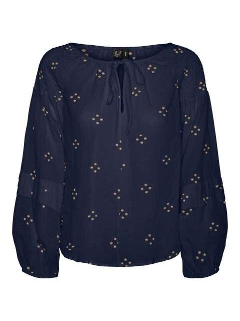 Blusa Combinada Mujer Vero Moda 10243785 VMASTA LS TOP WVN SPE