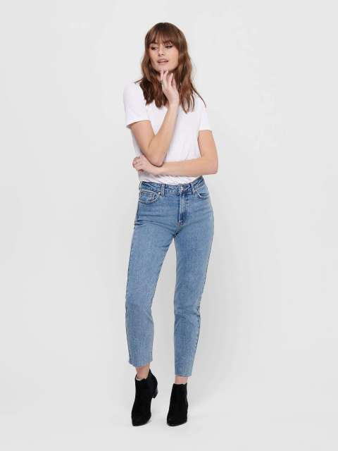 Jeans Straight Mujer Only 15171550 ONLEMILY LIFE HW ST RAW CR AN MAE06 NOOS