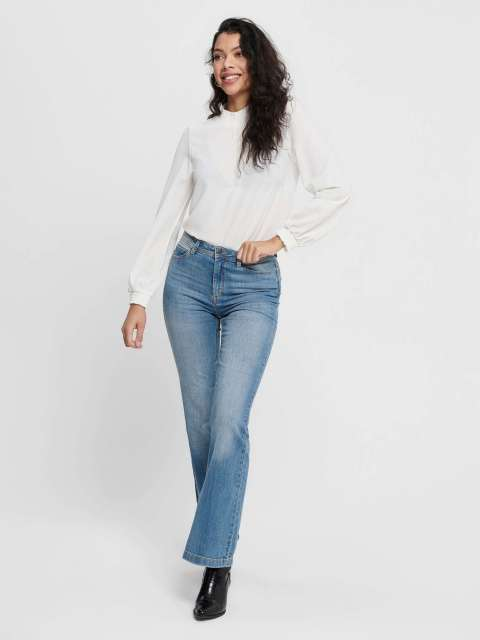 Jeans Campana Mujer Jacqueline de Yong 15167994 JDYFLORA LIFE FLARED HIGH MB NOOS DNM