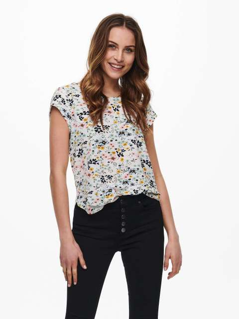 Top Estampado Mujer Only 15161116 ONLVIC SS AOP TOP NOOS WVN