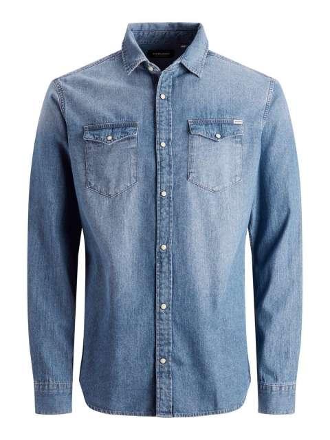 Camisa Denim Hombre Jack & Jones 12138115 JJESHERIDAN SHIRT L/S NOOS