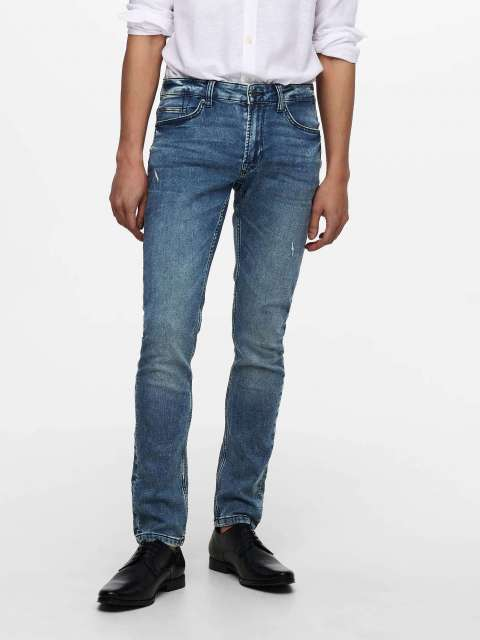 Jeans Jogger Slim Hombre Only & Sons 22019107 ONSLOOM LIFE SLIM JOG M BLUE PK 9107