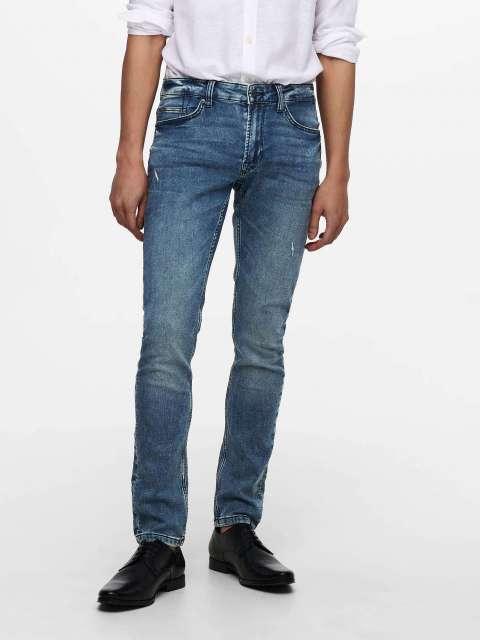 Jeans Jogger Slim Hombre Only & Sons 22019107 ONSLOOM LIFE SLIM JOG M BLUE PK 9107