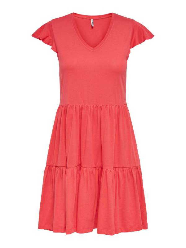 Vestido Corto Mujer Only 15226992 ONLMAY LIFE CAP SLEEVES FRILL DRESS JRS