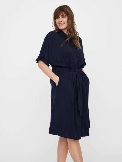 Vestido Midi Mujer Vero Moda Curve 10246397 VMFANNI SS MIDI DRESS-K CURVE