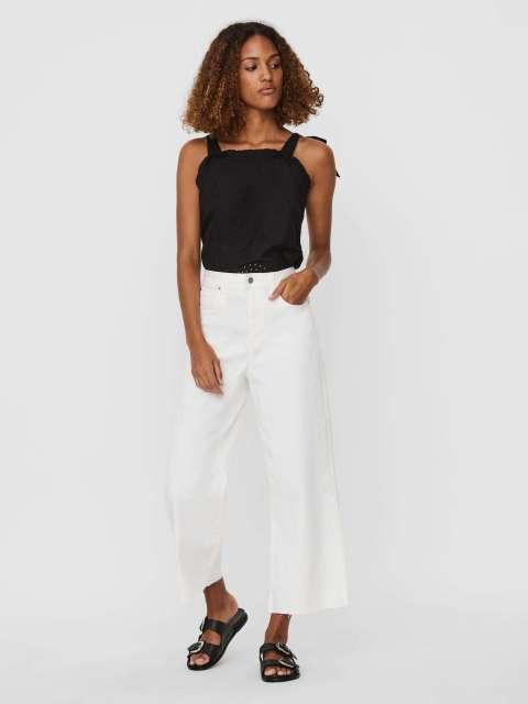 Jeans Wide Leg Mujer Vero Moda 10247828 VMKATHY HR WIDE CROPPED DENIM JEANS