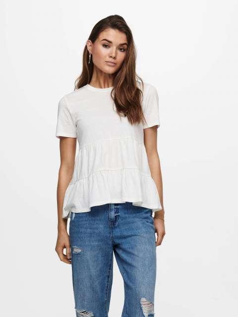 Camiseta Estructura Labrada Mujer Jacqueline de Yong 15226819 JDYPASTEL LIFE S/S LAYERED TOP JRS