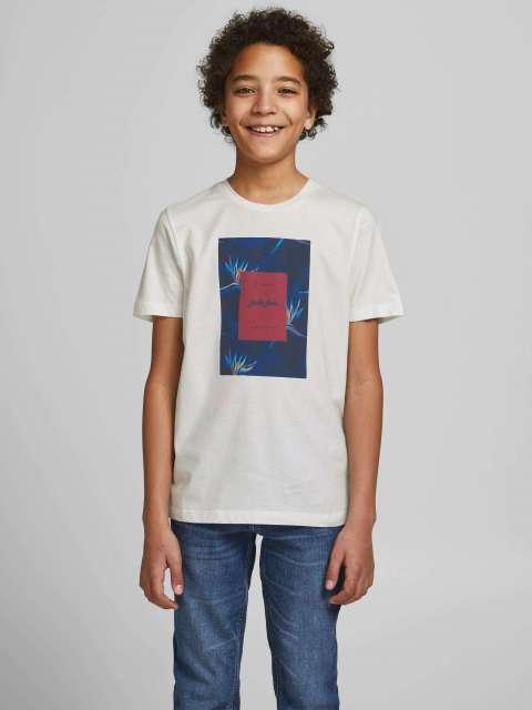 Camiseta Estampada Niño Jack & Jones Junior 12186855 JORFLORALL PRINT TEE SS CREW NECK JR