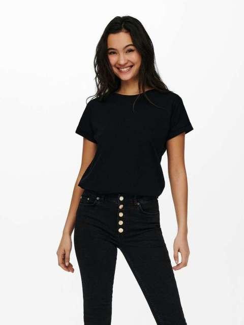 Camiseta Labrada Mujer Jacqueline de Yong 15217558 JDYPASTEL LIFE NEW S/S FOLD UP TOP JRS