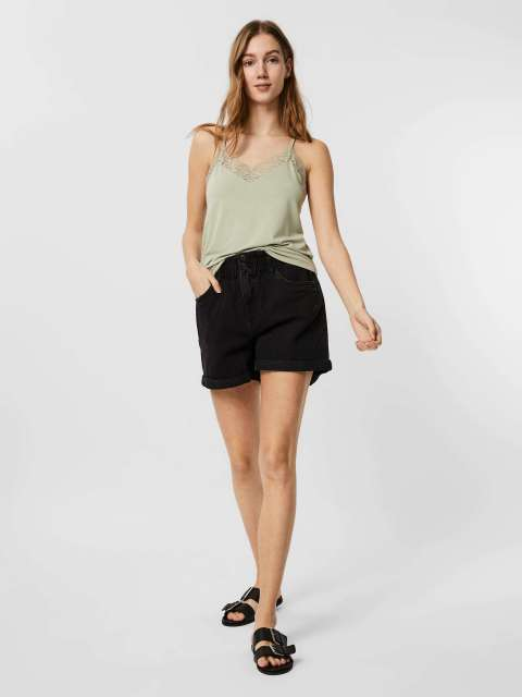 Short Denim Paper Bag Mujer Vero Moda 10247999 VMNINETEEN HR LOOSE PAPERBAG SHORT COLOR