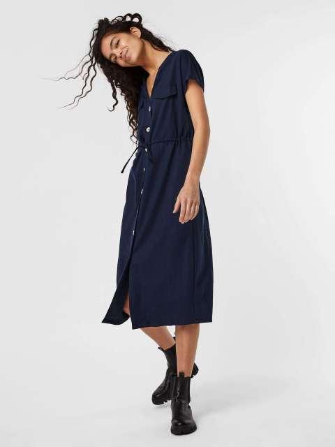 Vestido Fluido Mujer Vero Moda 10244767 VMINAMARIA SS WIDE CALF SHIRT DRESS JRS