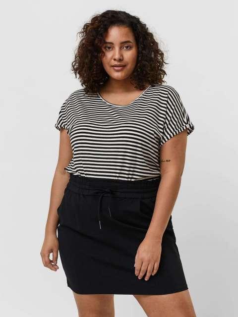 Camiseta Rayas Mujer Vero Moda Curve 10215265 VMAVA PLAIN SS TOP STRIPE GA CURVE