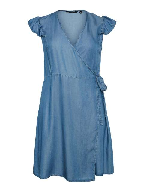 Vestido Corto Cruzado Mujer Vero Moda Curve 10246429 VMAENA SL ON KNEE DRESS - K CURVE GA
