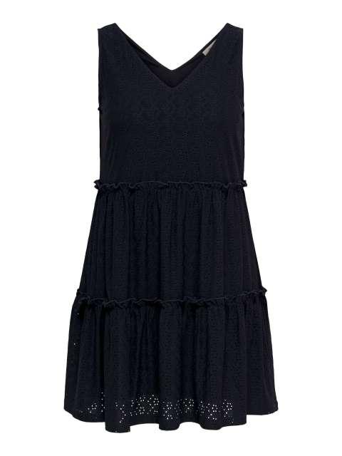 Vestido Bordado Mujer Curvy Only Carmakoma 15230951 CARLINY SL V-NECK KNEE DRESS