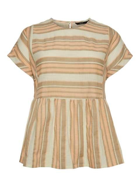 Blusa Combinado Mujer Vero Moda Curve VMZAFIA SS LONG BLOUSE - K CURVE