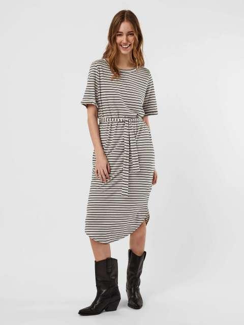 Vestido Rayas Mujer Vero Moda 10243045 VMALONA 2/4 CALF DRESS JRS GA SPE