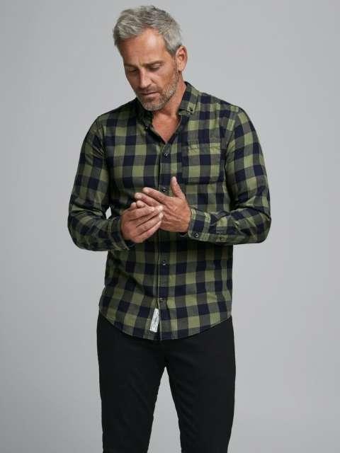 Camisa chico Jack & Jones 12130163 PKTDEK GRAHAM CHECK SHIRT L/S