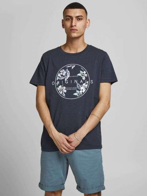 Camiseta Estampación Floral Hombre Jack & Jones 12188675 JORHAAZY TEE SS CREW NECK