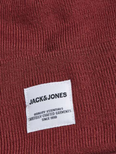 Gorro rojo para hombre Jack & Jones 12150627 JACLONG KNIT BEANIE NOOS