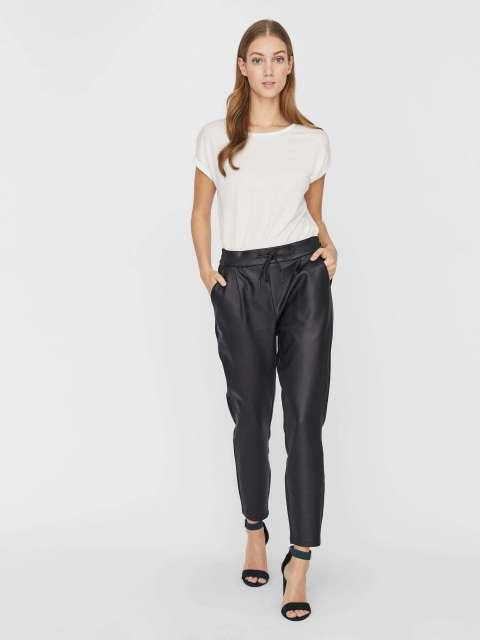 Pantalón Efecto Piel Mujer Vero Moda 10205737 VMEVA MR LOOSE STRING COATED PANT NOOS